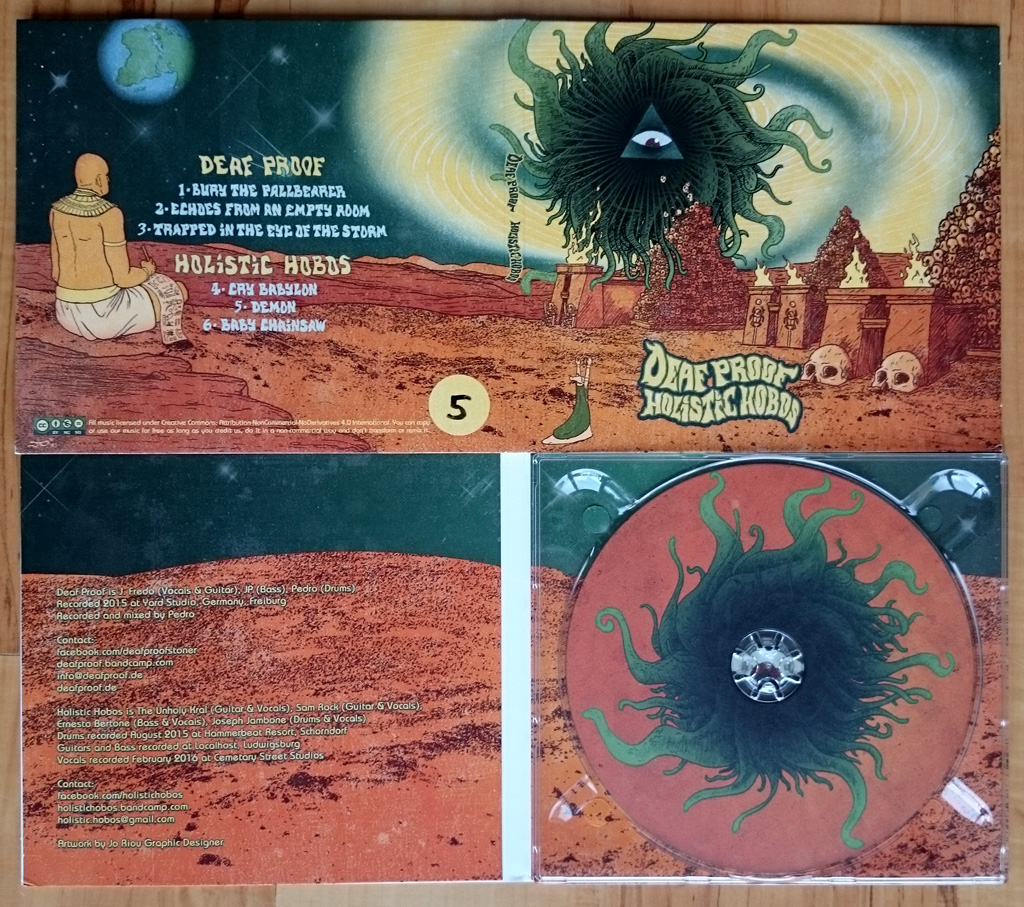 Deaf Proof Holistic Hobos Split Digipack CD